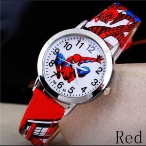 Spiderman Rubber Quartz Watch Red NEW!